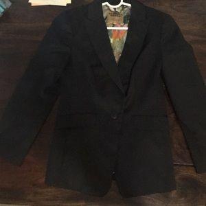 Black ted baker blazer 3/4 sleeve